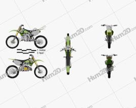 Kawasaki KX250 2003 Motorcycle clipart