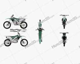 Kawasaki KX450F 2016 Motorcycle clipart