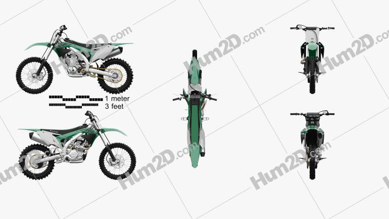 Kawasaki KX450F 2016 Clipart Image