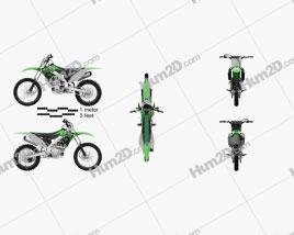 Kawasaki KX250F 2016 Motorcycle clipart
