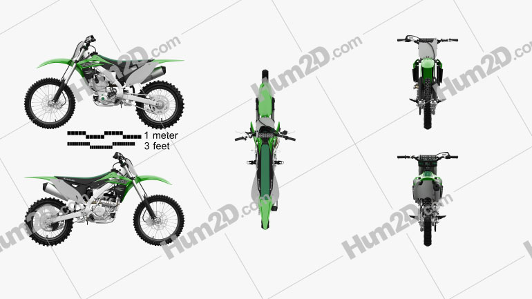 Kawasaki KX250F 2016 Clipart Image