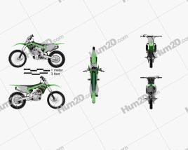Kawasaki KX250F 2017 Motorcycle clipart