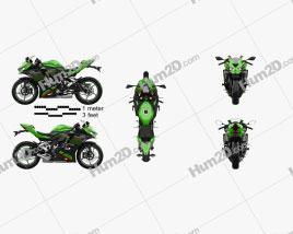 Kawasaki Ninja ZX-25R 2020 Motorcycle clipart