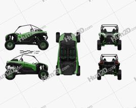 Kawasaki Teryx KRX 1000 2021 clipart