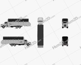 Kenworth T800 Cotton Truck 2011 clipart