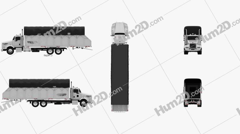 Kenworth T800 Cotton Truck 2011 Clipart Image
