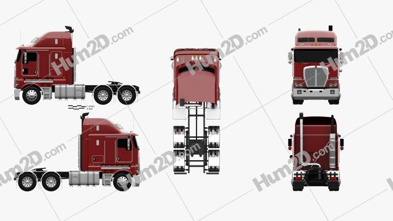 Kenworth K200 Tractor Truck 2010 clipart