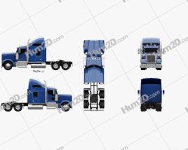 Kenworth W900L Tractor Truck 2005