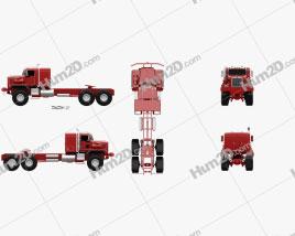 Kenworth C500 Tractor Truck 2001