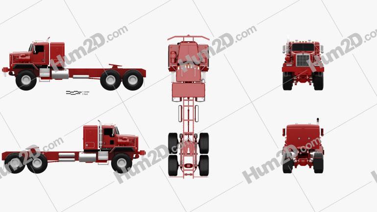 Kenworth C500 Tractor Truck 2001 clipart