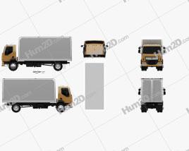 Kenworth K370 Box Truck 2014 clipart