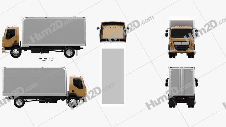 Kenworth K370 Box Truck 2014 Clipart Image