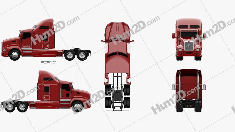 Kenworth T660 Tractor Truck 2008 clipart