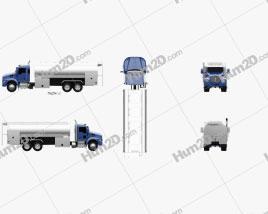 Kenworth T370 Tanker Truck 3-axle 2009 Clipart