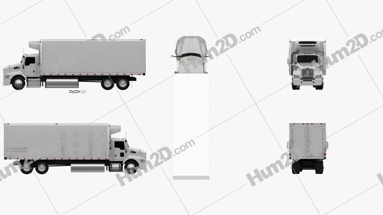 Kenworth T440 Refrigerator Truck 3-axle 2009 Clipart Image