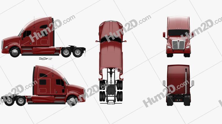 Kenworth T700 Sattelzug 3-Achs 2010 Clipart Bild