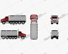 Kenworth T880 Dump Truck 6-axle 2013 clipart