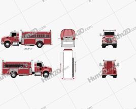 Kenworth T370 Fire Truck 2009 clipart