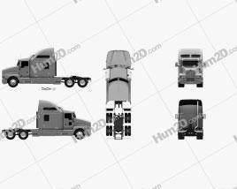 Kenworth T600 Tractor Truck 2007 clipart