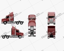 Kenworth T610 Sleeper Cab Tractor Truck 2017 clipart