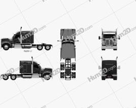 Kenworth W990 72-inch Sleeper Cab Tractor Truck 2018 clipart