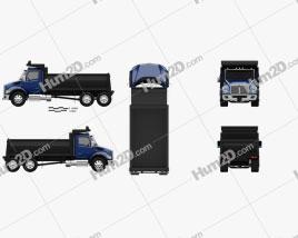 Kenworth T480 Dump Truck 2021 clipart