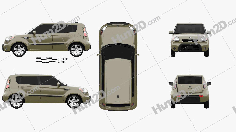 Kia Soul 2010 car clipart