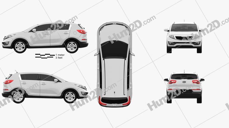 Kia Sportage 2011 car clipart