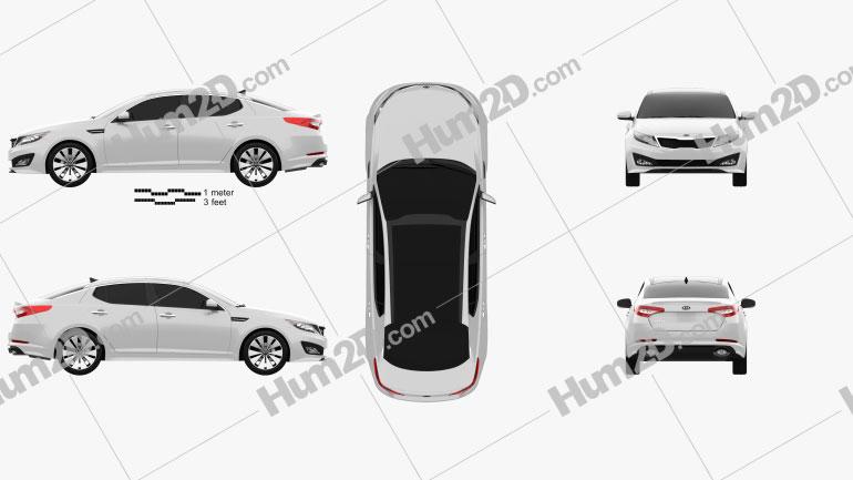 Kia Optima (K5) 2011 car clipart