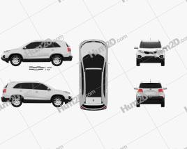 Kia Sorento 2011 car clipart