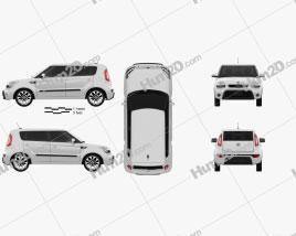 Kia Soul 2012 car clipart