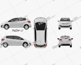 Kia Venga 2011 car clipart
