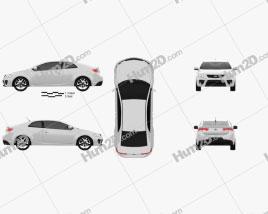 Kia Cerato Coupe 2012 car clipart