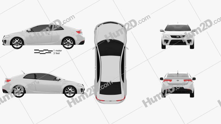 Kia Cerato Coupe 2012 Clipart Image
