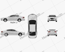Kia Cadenza (K7) 2012 car clipart