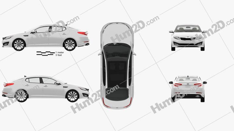 Kia Optima (K5) with HQ Interior 2011 car clipart