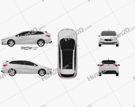 Kia Ceed SW 2013 car clipart