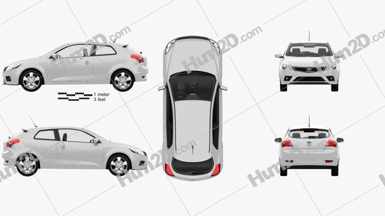 Kia Pro Ceed mit HD Innenraum 2011 car clipart
