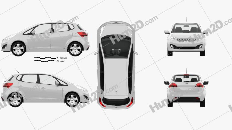 Kia Venga mit HD Innenraum 2011 car clipart
