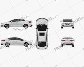 Kia Forte 2014 car clipart