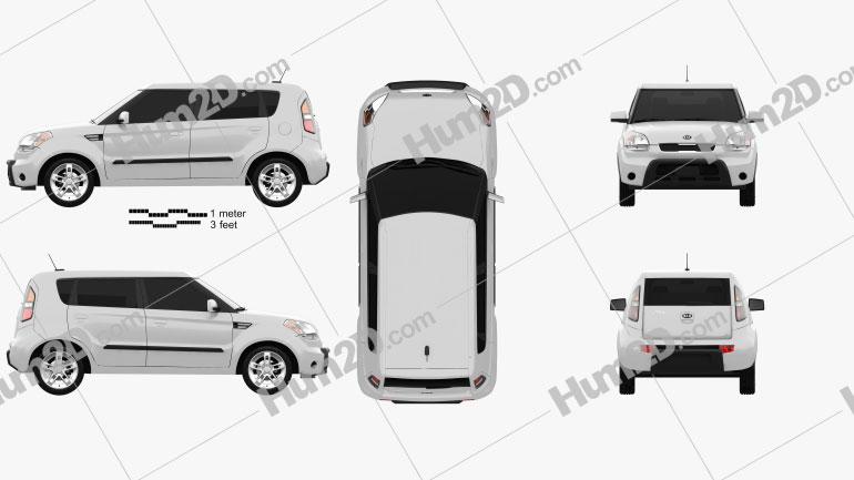 Kia Soul HotTot IV Van Oven 2011 car clipart