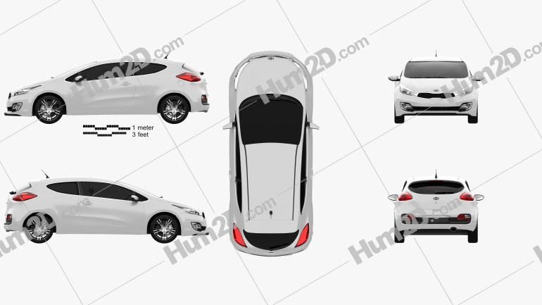 Kia Pro Ceed 2014 car clipart