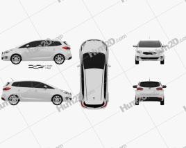 Kia Carens (Rondo) 2013 car clipart