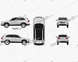 Kia Sorento XM 2012 car clipart