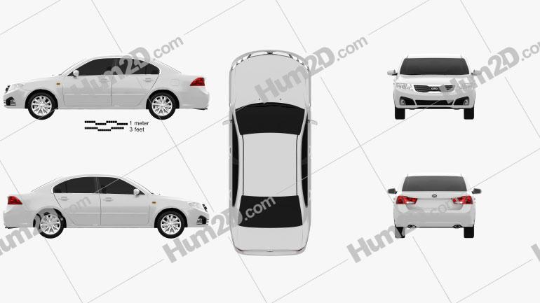 Kia Optima (Magentis) 2010 car clipart