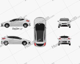 Kia Pro Ceed GT 2014 Clipart