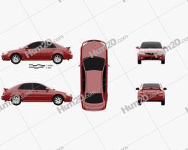 Kia Cerato (Spectra) sedan 2004 car clipart