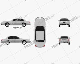Kia Opirus (Amanti) 2006 car clipart