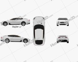 Kia GT 2011 Clipart
