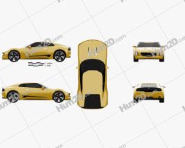 Kia GT4 Stinger 2014 Clipart